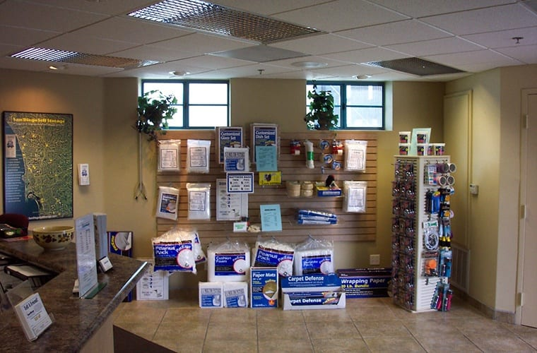 Smart Self Storage of Solana Beach is a one-stop shop for all of your packing supplies.