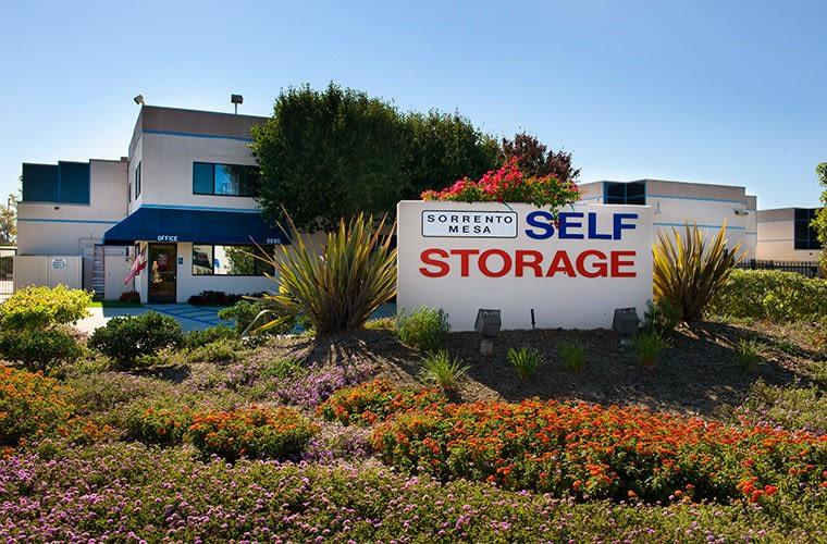 Exterior view of Sorrento Mesa Self Storage in San Diego, CA.