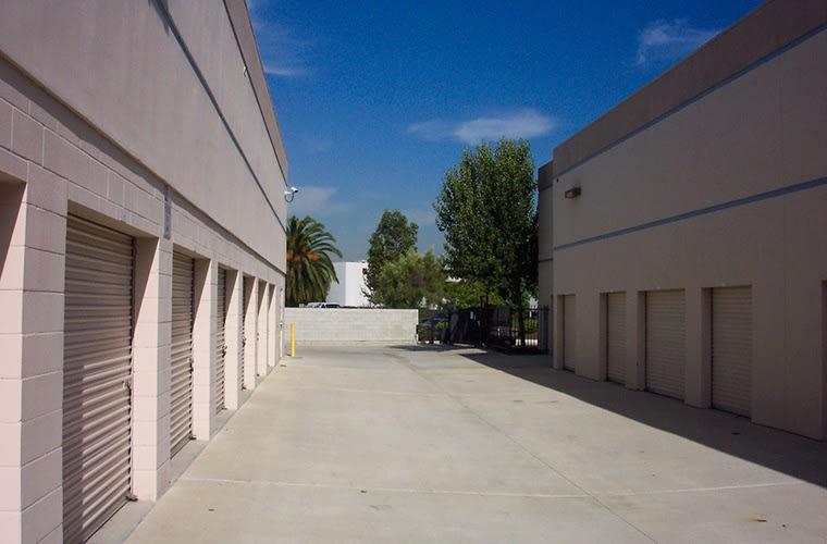 Exterior view of our outside storage units at Sorrento Mesa Self Storage.