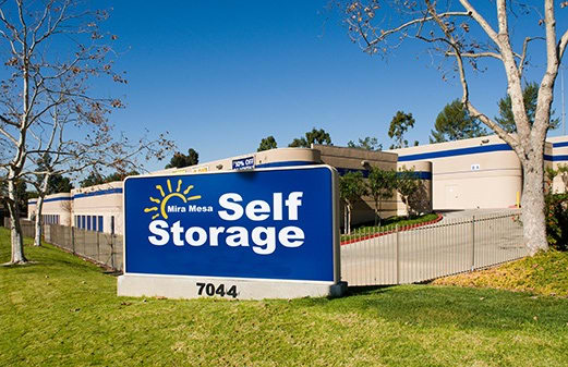 Mira Mesa Self Storage front of office