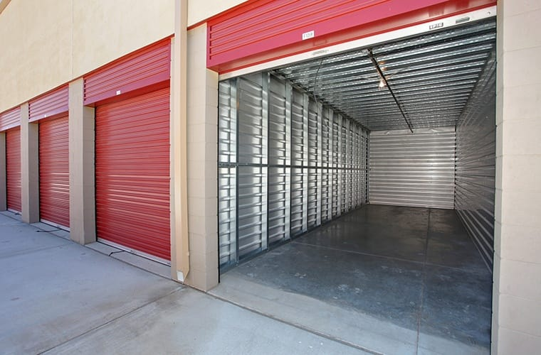The interior aisles are always clean and clear of obstacles at Butterfield Ranch Self Storage in Temecula, CA.