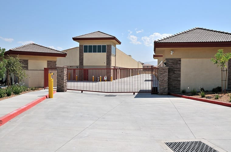 We have secure, computer-controlled access gates at Butterfield Ranch Self Storage in Temecula.