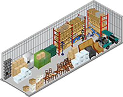 10x30 storage unit with MiniStorage