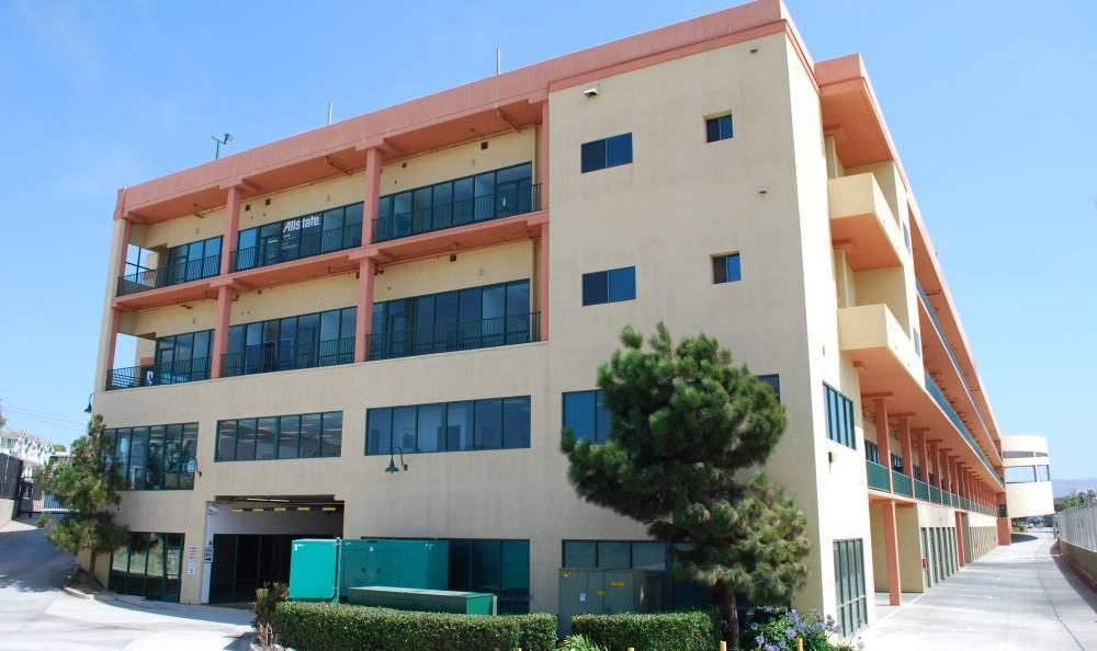 Exterior of storage building at Redondo Hermosa MiniStorage in Redondo Beach, CA