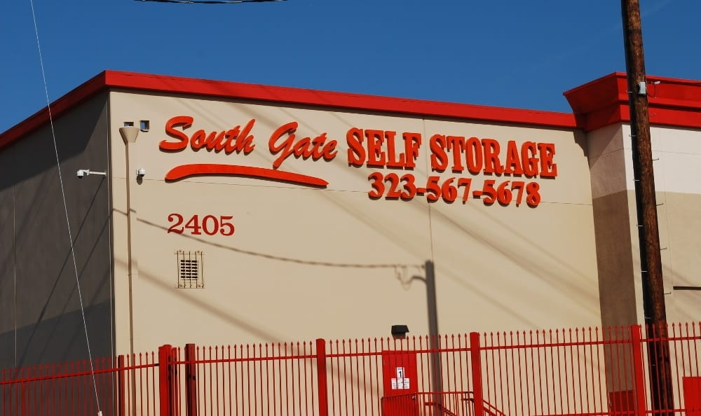 Front of our storage facility in South Gate, CA
