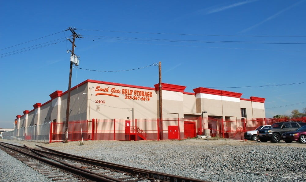 Railroad view of our storage facility in South Gate, CA