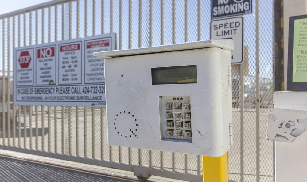 Code access at Orange County Self Storage