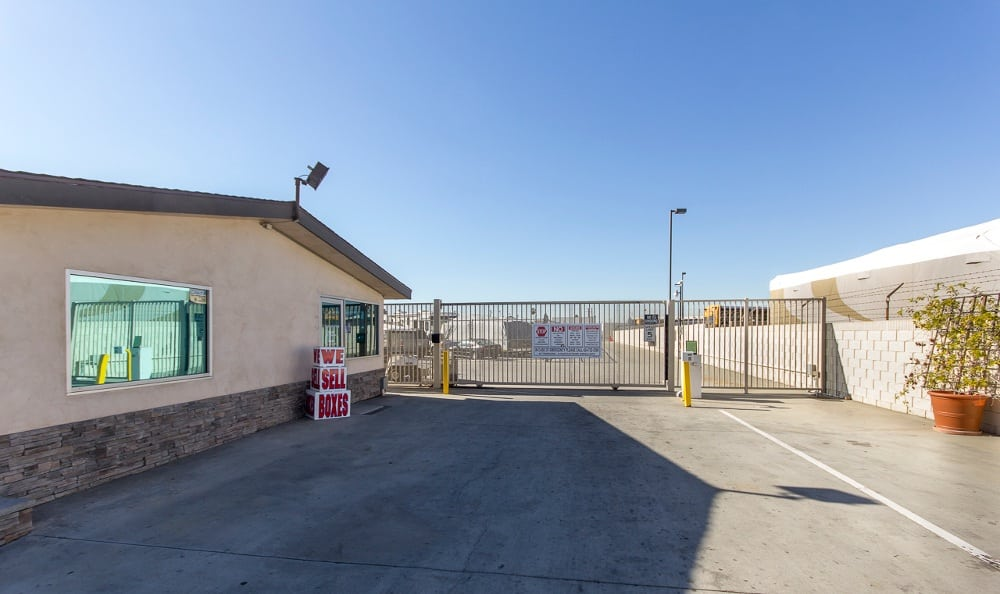 Gated access to our storage facility in Santa Ana, CA