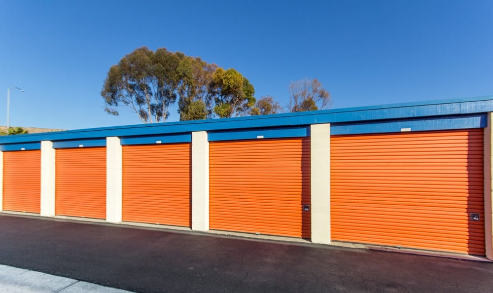 Side view of our storage in Costa Mesa, CA