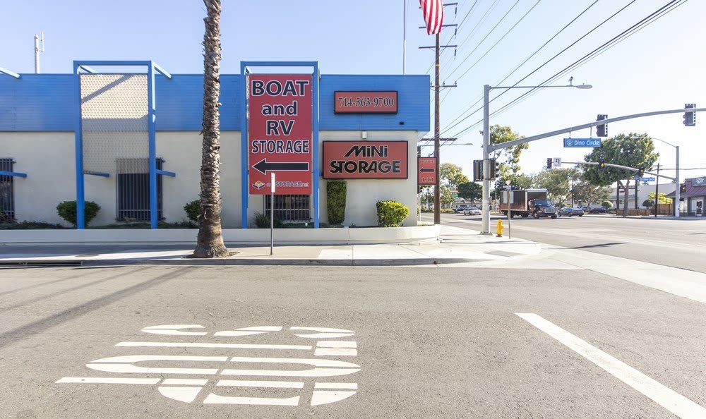 Street view at Anaheim MiniStorage