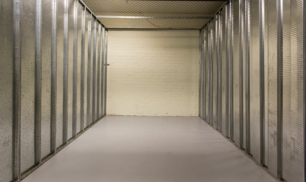 Indoor storage units at Anaheim MiniStorage