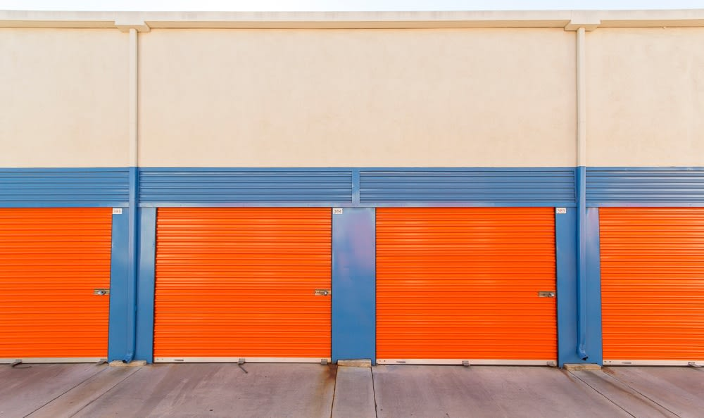 Clean self storage units in Anaheim