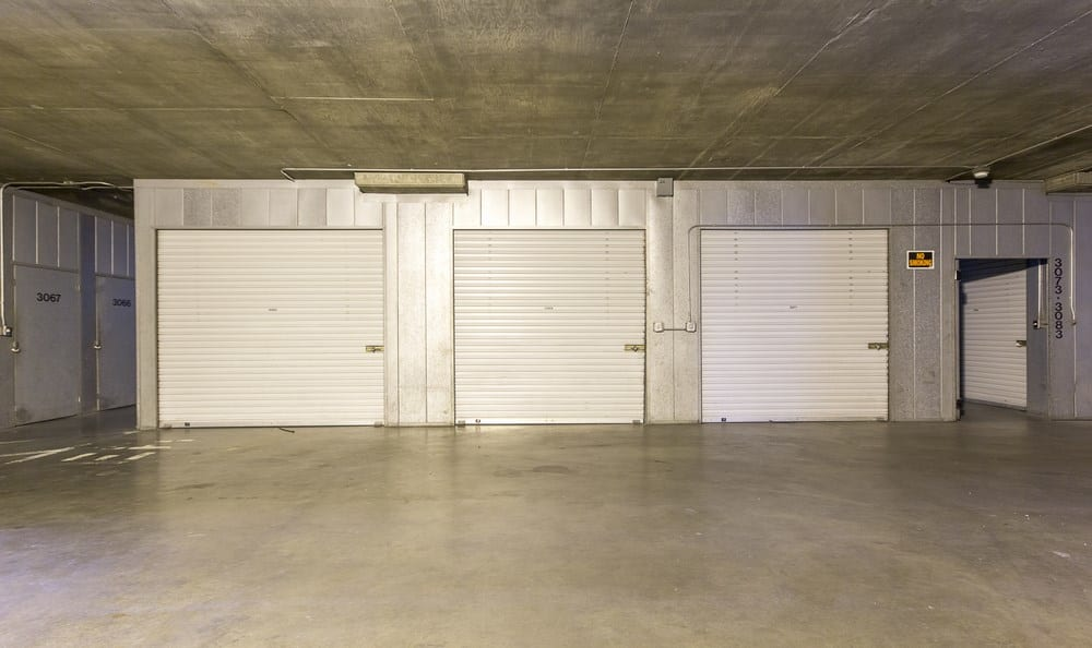 Garage units at Sherman Oaks MiniStorage