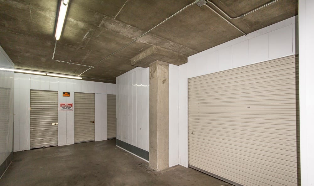 Secured indoor storage units at Sherman Oaks MiniStorage