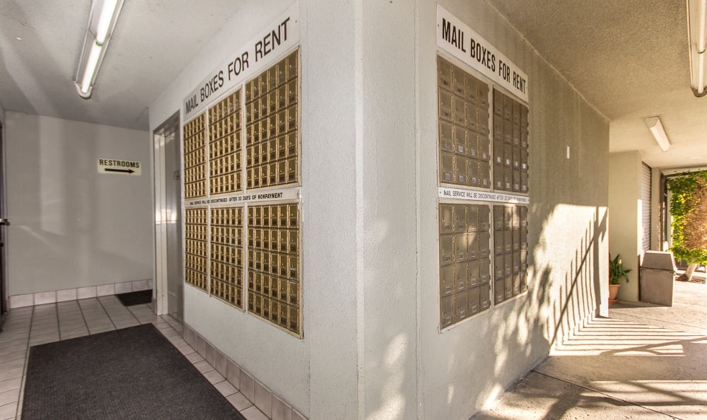 Mailboxes at Sherman Oaks MiniStorage