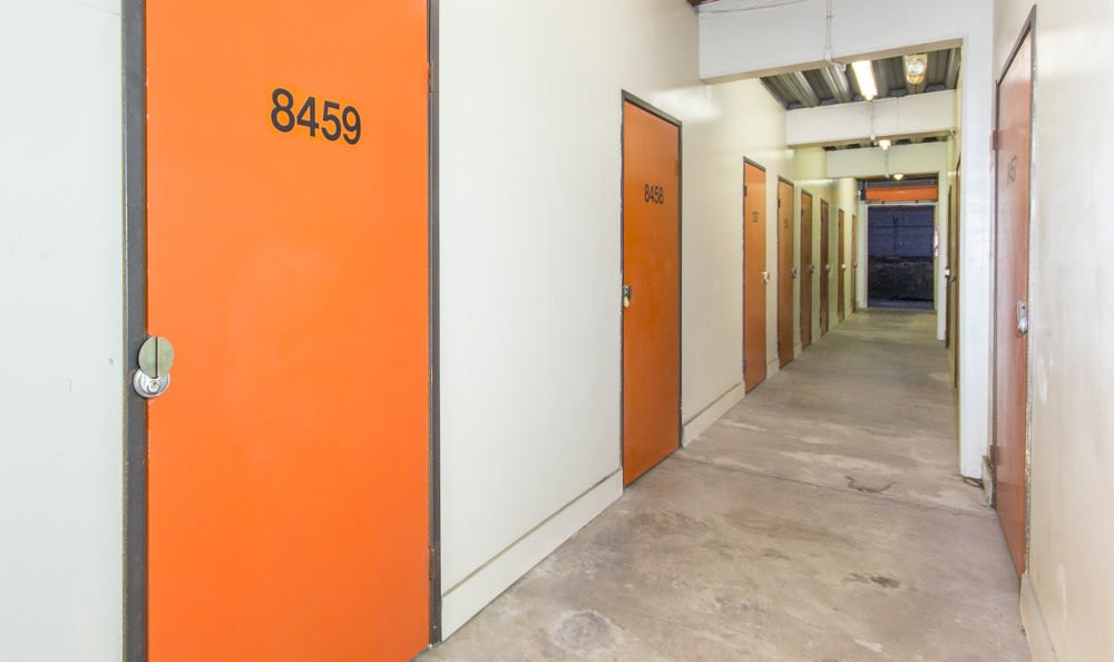 Indoor storage units at Redondo Torrance MiniStorage