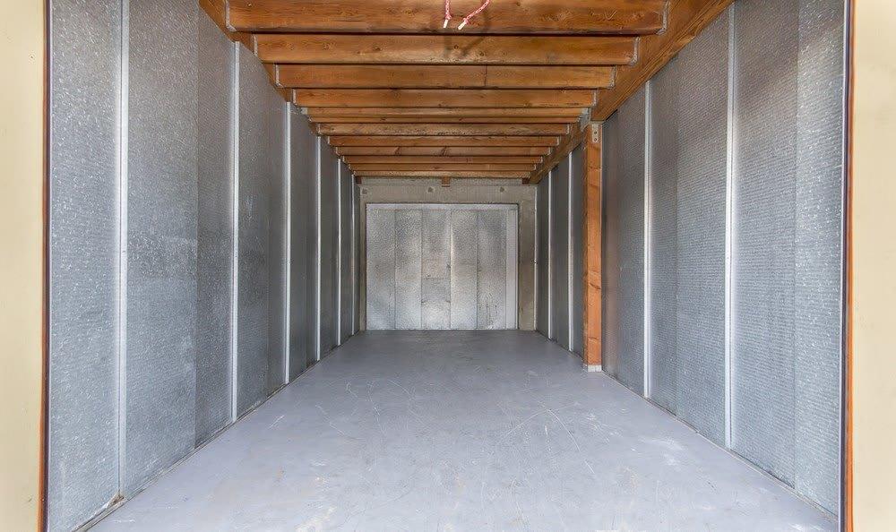 Interior of storage unit at Redondo Torrance MiniStorage