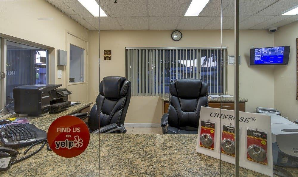 Helpful office staff at Pasadena MiniStorage