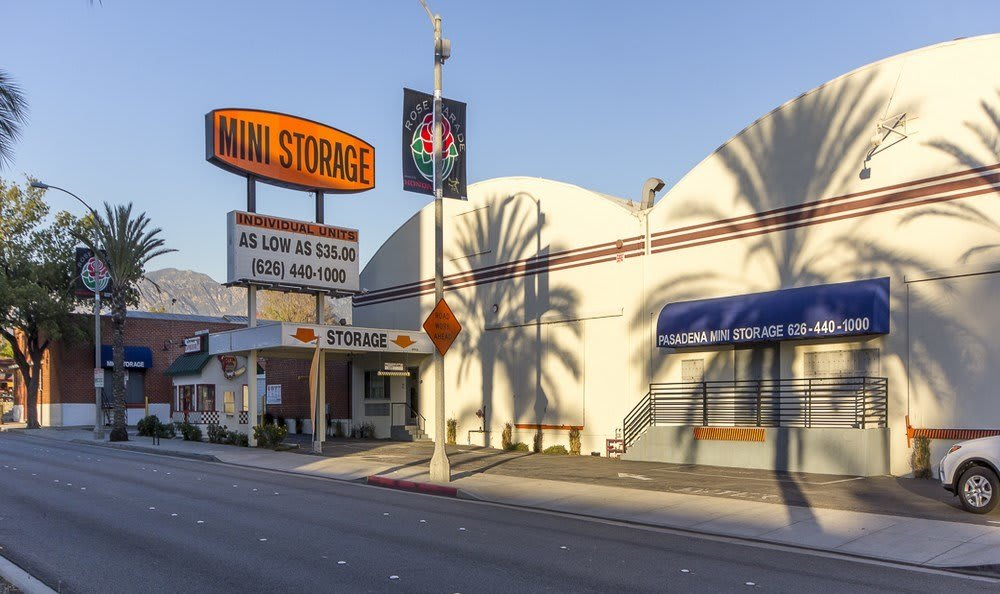 Street view of our self storage facility in Pasadena, CA