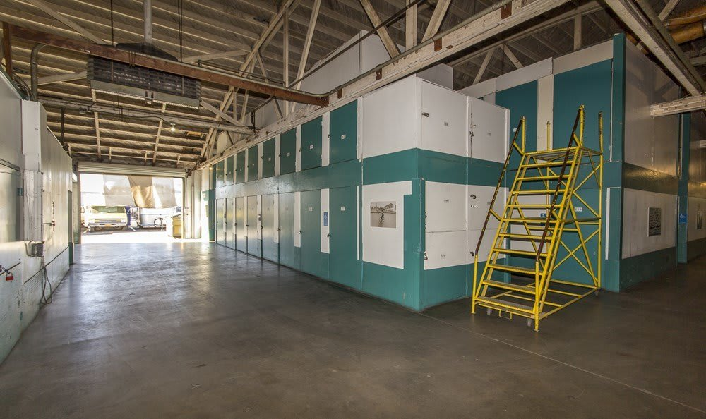 Inside our self storage facility in Los Angeles