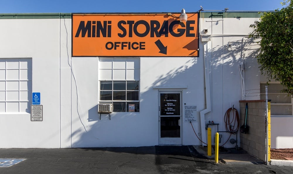 Entrance to our self storage facility in Los Angeles