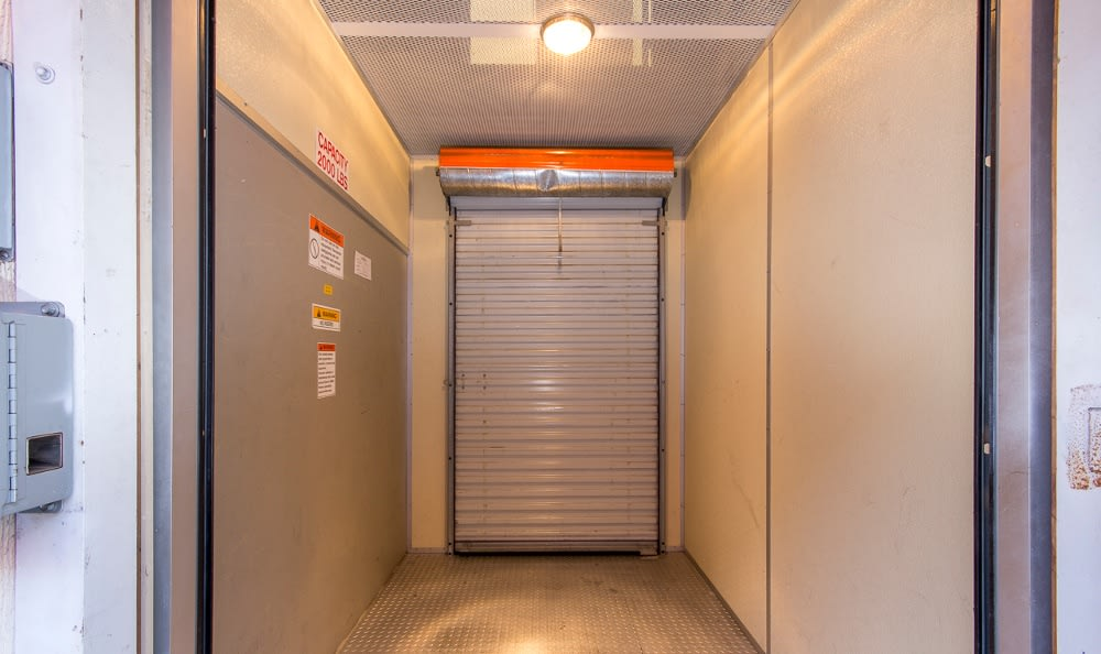 Indoor storage options at South Bay MiniStorage
