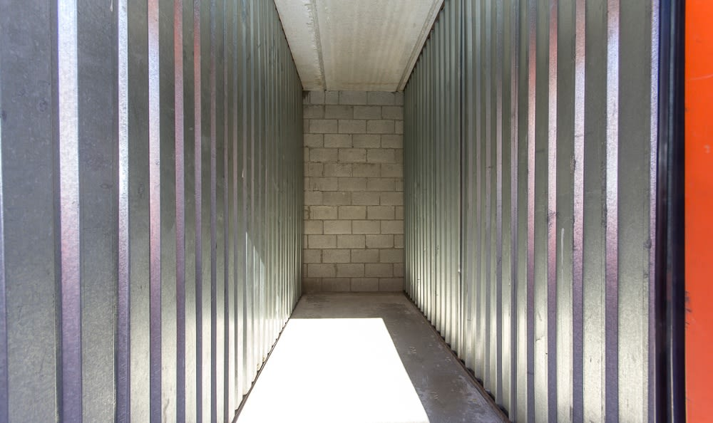 Indoor storage units at Van Nuys MiniStorage