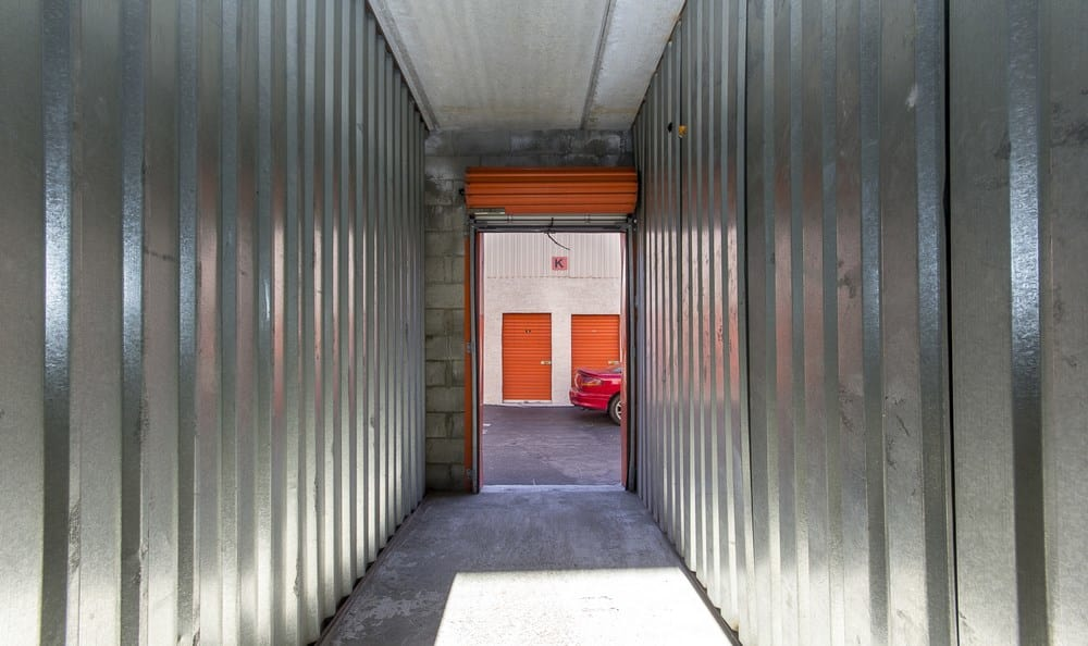 Interior of storage unit at Van Nuys MiniStorage