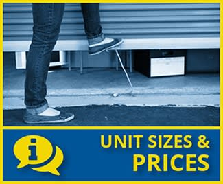 View unit sizes and prices offered at Stor-Eze