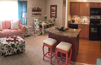 Affordable apartments at The Forest in Glen Burnie, Maryland.