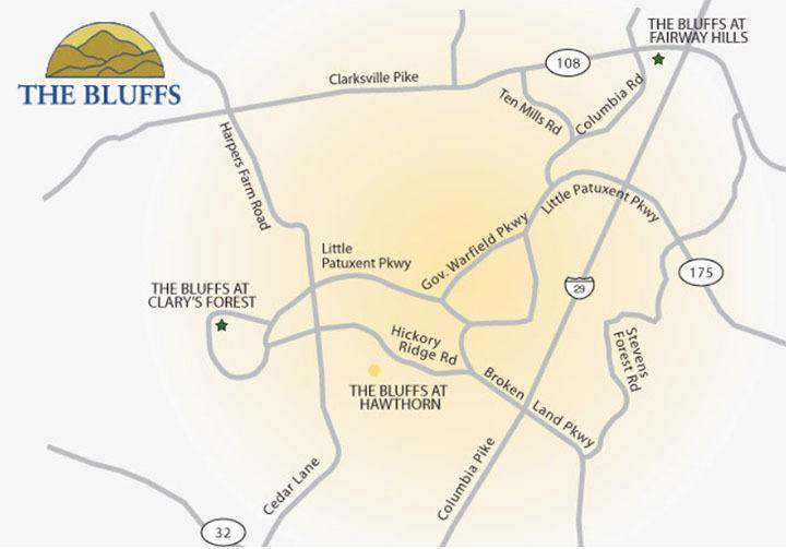 Bluffs neighborhood area