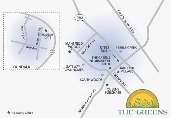 The Greens neighborhood area
