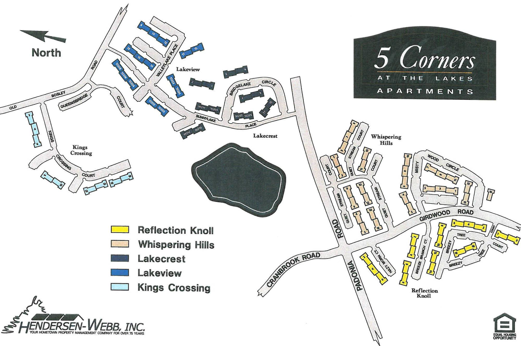 Open sitemap for 5 Corners Apartments in Timonium, Maryland