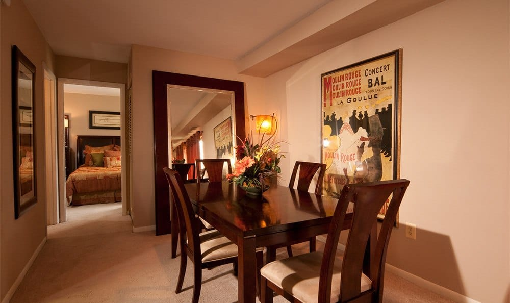 Spacious dining rooms at Cranbrook Hills Apartments