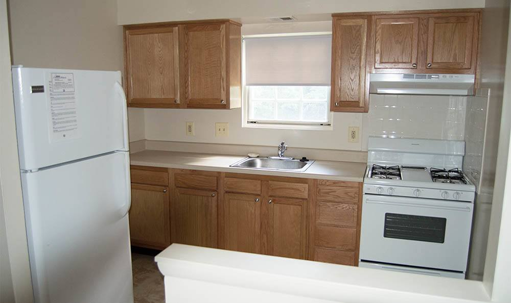Kitchen appliances at Kings Mill Apartments and Townhomes