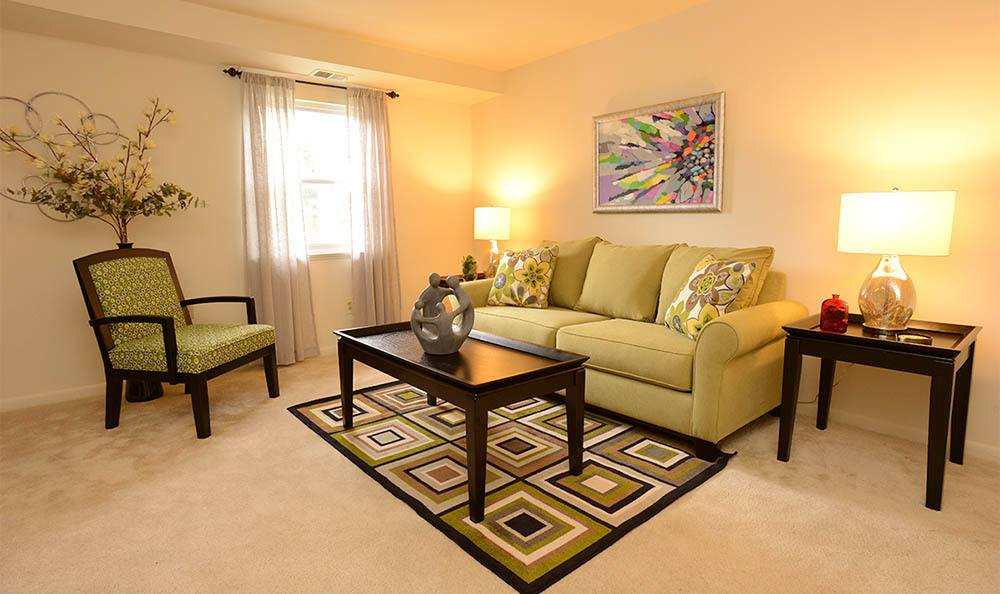 Living room at Kings Mill Apartments and Townhomes