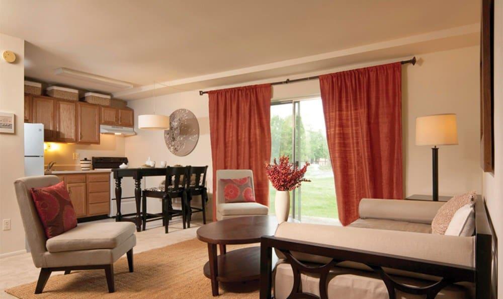 Spacious living room in Essex apartment units