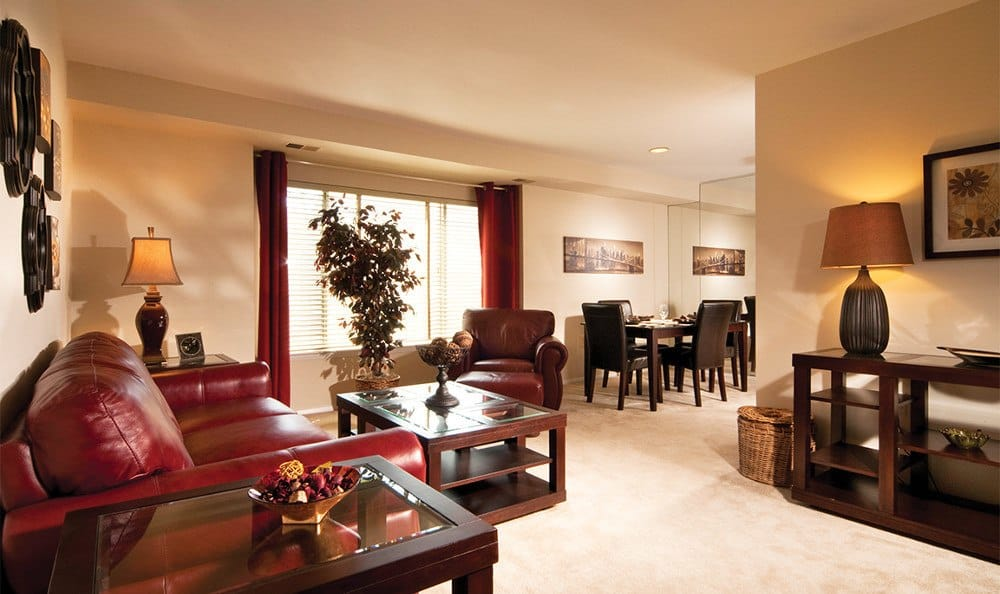 Our Cockeysville apartments have spacious living rooms