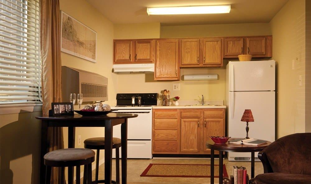 Beautiful spacious kitchens at Cockeysville apartments