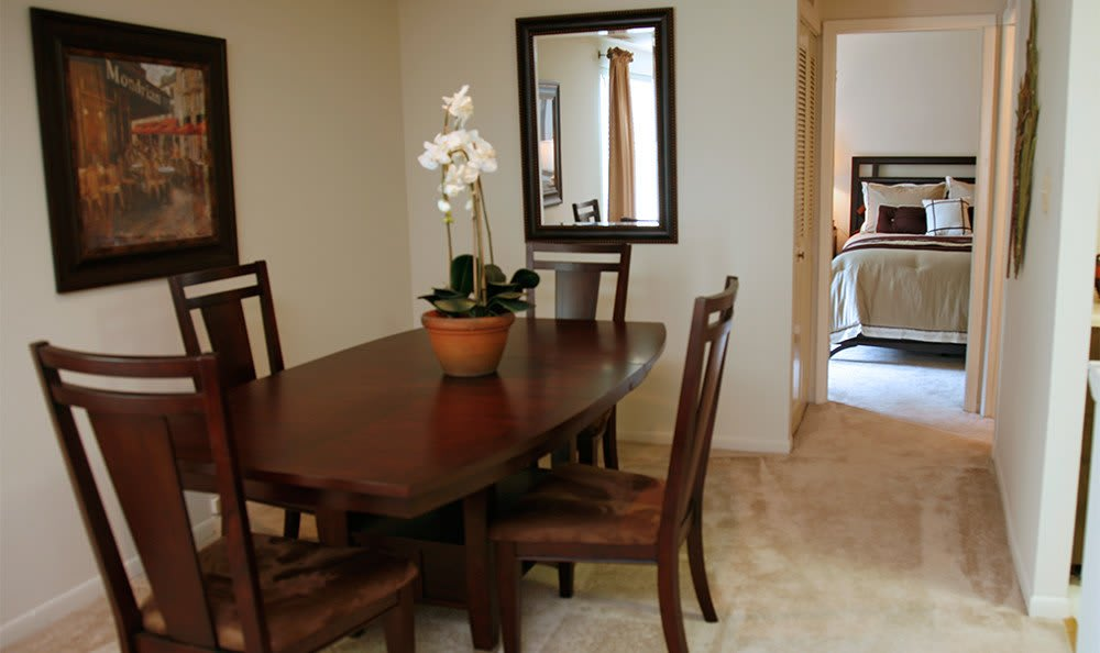 Large dining areas at our apartment units in Essex