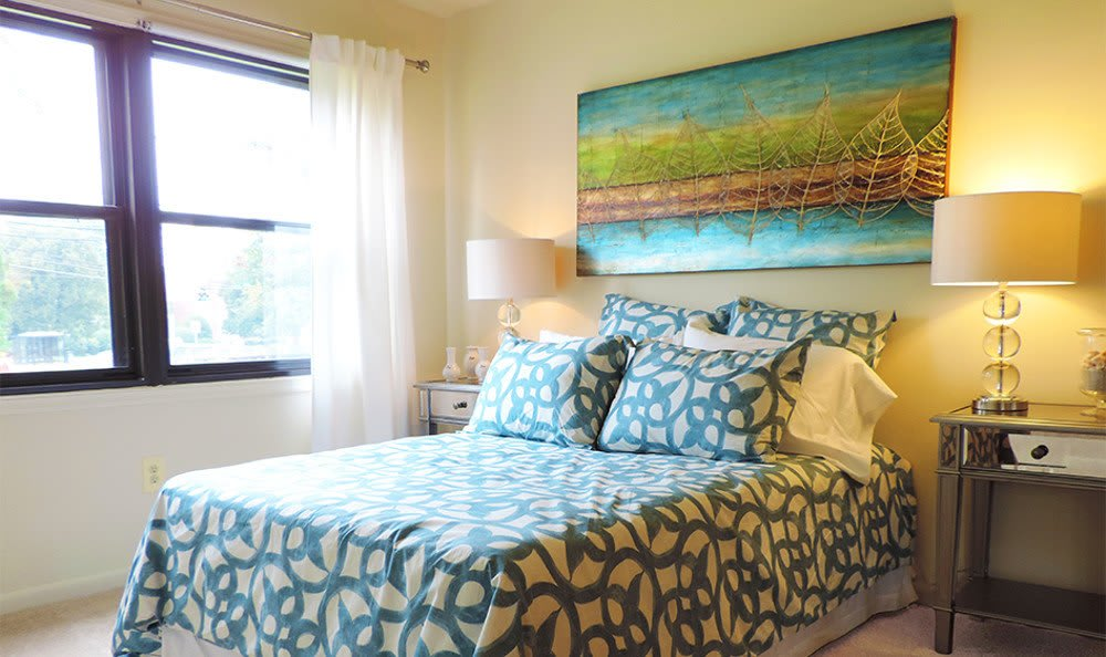 Designer bedrooms at our apartments in Baltimore