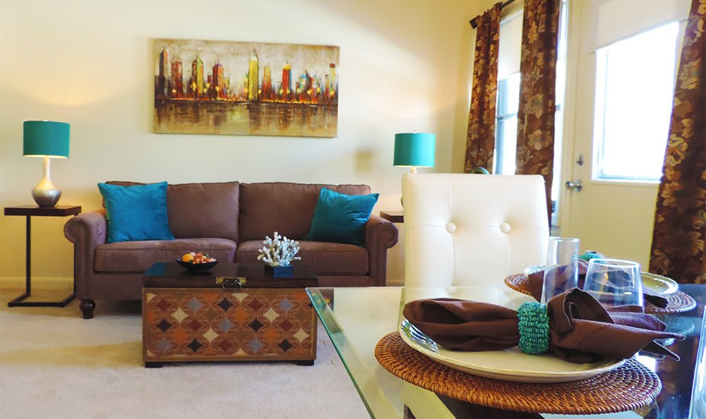 Beautiful Baltimore living rooms at our apartment units