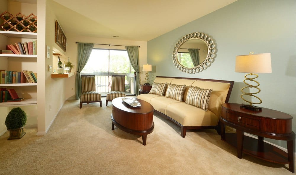 Beautiful living rooms at Glen Burnie apartment units