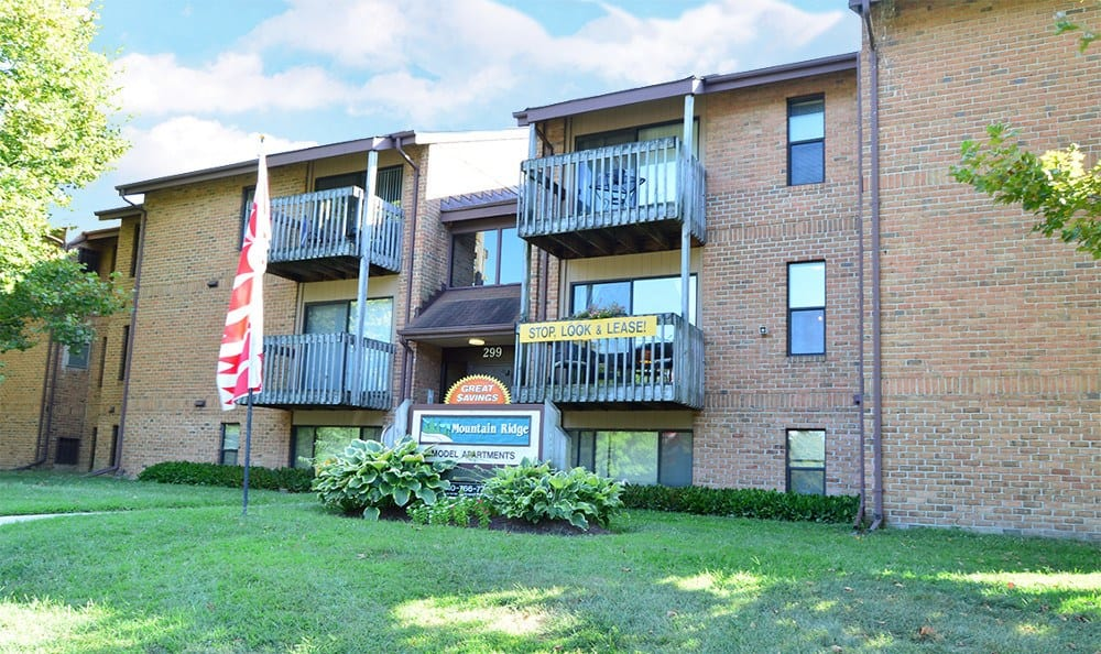 Exterior of apartments for rent in Glen Burnie