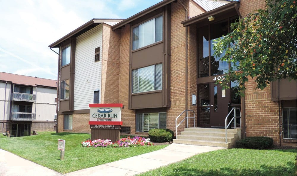 Exterior of apartments for rent in Catonsville