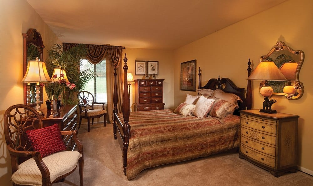 Designer bedrooms here at Spring Valley Apartments