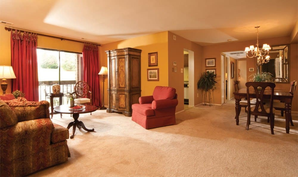 Beautiful living rooms in Cockeysville apartments for rent