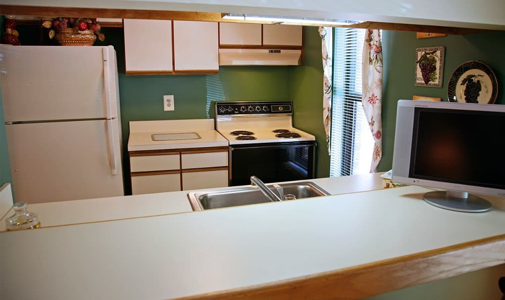 Spacious kitchen at Columbia apartments