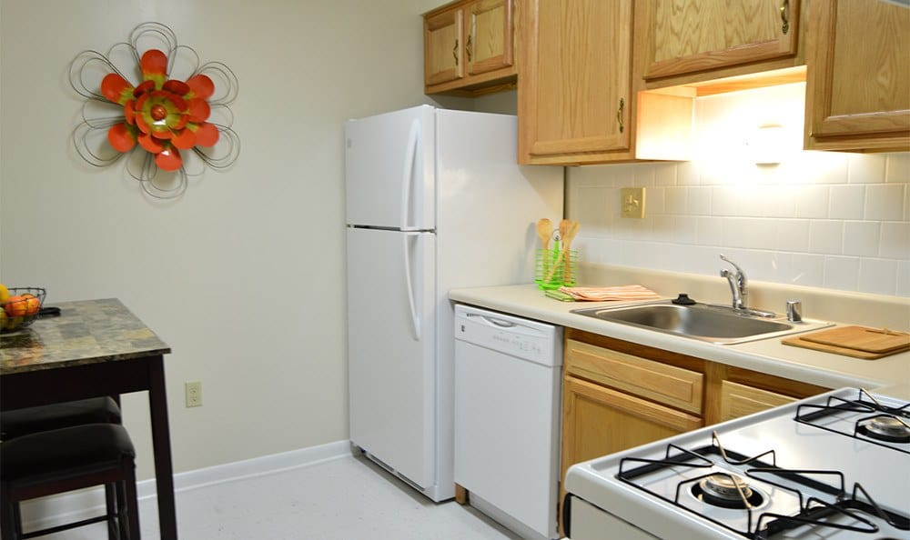 Our Baltimore, MD apartments have spacious kitchens