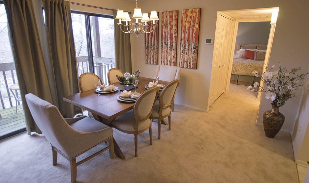 Our Sparks apartments have very spacious dining rooms